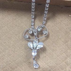 Jewelry - Vintage Rhinestone Necklace Signed Leo Glass